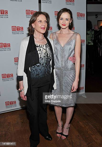 Actors Kelly Bishop and Alexis Bledel attend Regrets OffBroadway opening night celebration at Beacon on March 27 2012 in New York City