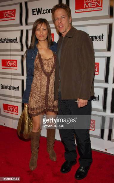 Actors Kelly Hu and Greg Germann arrive at Entertainment Weekly's Upfront Party cohosted by Matrix Men held at The Manor in New York NY on Tuesday...