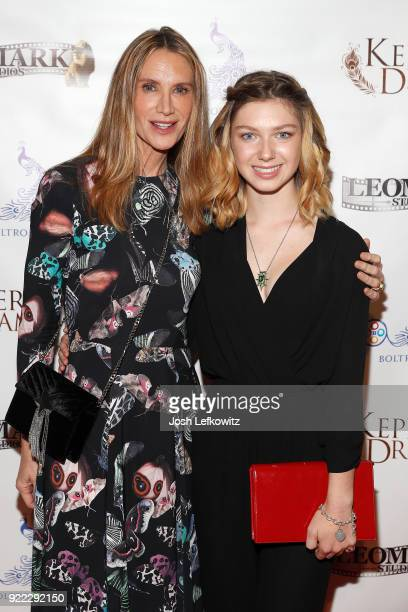 Actors Kelly Lynch and Isabella BlakeThomas attend the Kepler's Dream premiere at the Regency Plant 16 on November 30 2017 in Van Nuys California