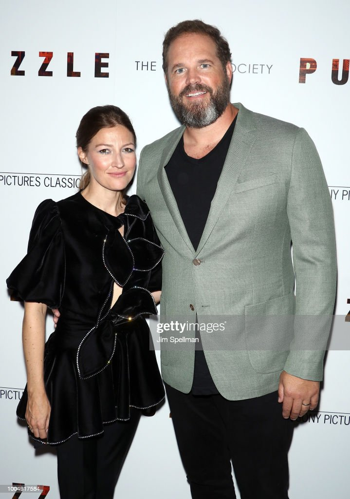 Actors Kelly Macdonald and David Denman attend the screening of 'Puzzle' hosted by Sony Pictures Classics and The Cinema Society at The Roxy Cinema on July 24, 2018 in New York City.