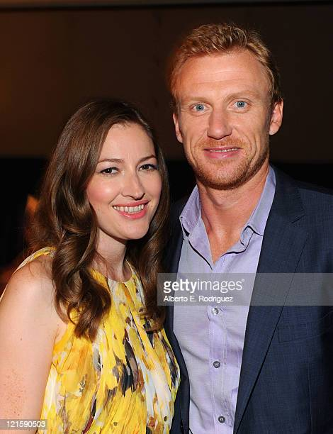 Actors Kelly Macdonald and Kevin McKidd of Disney/Pixar's Brave attend Disney's D23 Expo held at the Anaheim Convention Center on August 20 2011 in...
