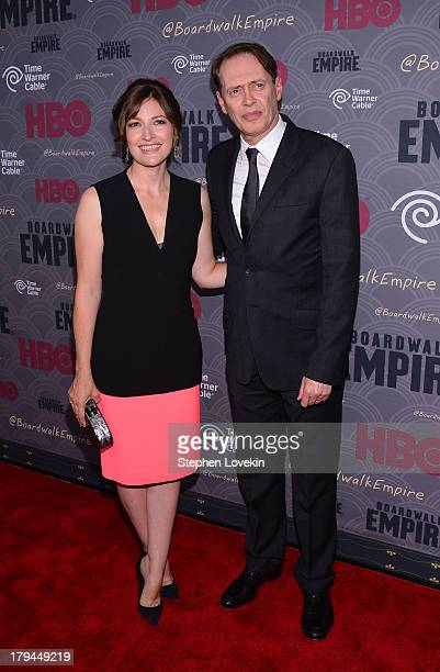 Actors Kelly Macdonald and Steve Buscemi attend the Boardwalk Empire season four New York premiere at Ziegfeld Theater on September 3 2013 in New...