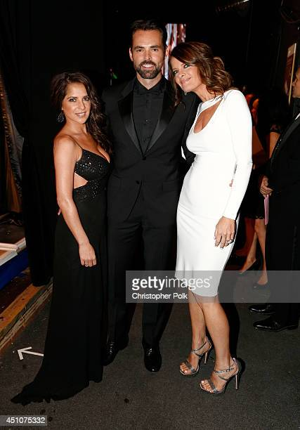 Actors Kelly Monaco Jason Thompson and Michelle Stafford attend The 41st Annual Daytime Emmy Awards at The Beverly Hilton Hotel on June 22 2014 in...
