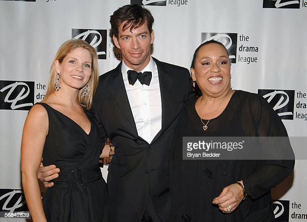 Actors Kelly O'Hara Harry Connick Jr and Roz Ryan arrive at the 21st annual spring benefit concert presented by the Drama League on February 13 2006...