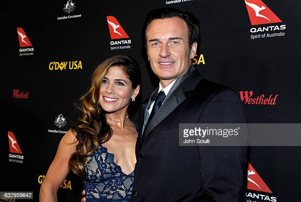 Actors Kelly Paniagua and Julian McMahon attend the 2017 G'Day Black Tie Gala at Governors Ballroom At Hollywood And Highland on January 28 2017 in...