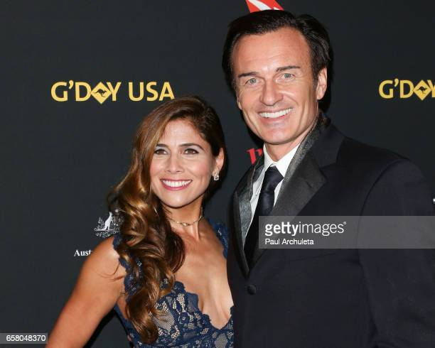 Actors Kelly Paniagua and Julian McMahon attend the 2017 G'Day USA Los Angeles Gala at The Ray Dolby Ballroom at Hollywood Highland Center on January...