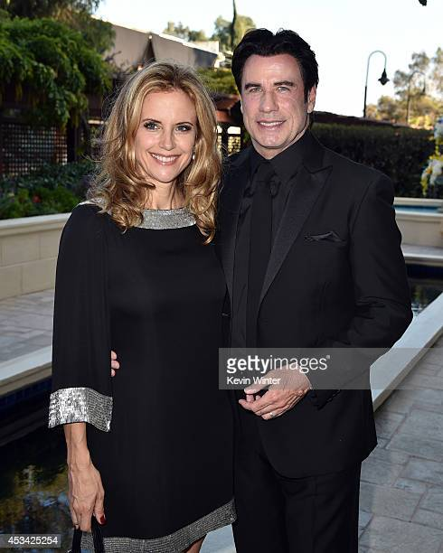 Actors Kelly Preston and John Travolta attend the Church of Scientology Celebrity Centre 45th Anniversary Gala on August 9 2014 in Los Angeles...