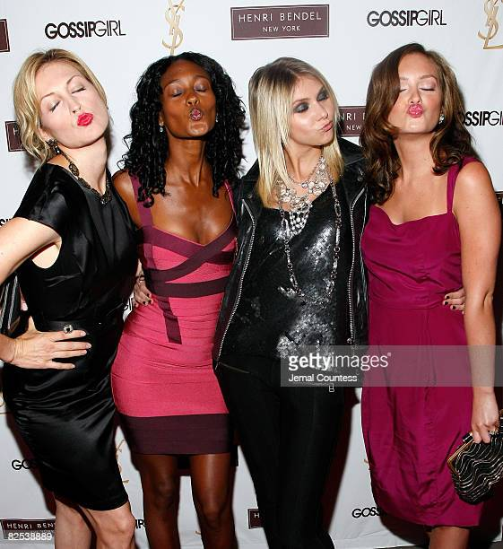Actors Kelly Rutherford Nicole Fiscella Taylor Momsen and Leighton Meester attend the Henri Bendel and YSL Beaute's celebration of the new season of...