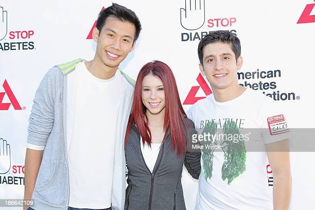 Actors Kelly Sry Jillian Rose Reed and Wesam Keesh attend the American Diabetes Association Step Out Walk at Griffith Park on November 2 2013 in Los...