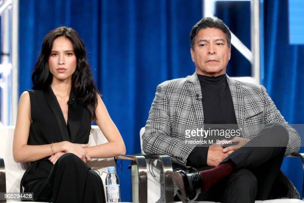 Actors Kelsey Asbille and Gil Birmingham of 'Yellowstone' speak onstage during the Paramount Network portion of the 2018 Winter Television Critics...