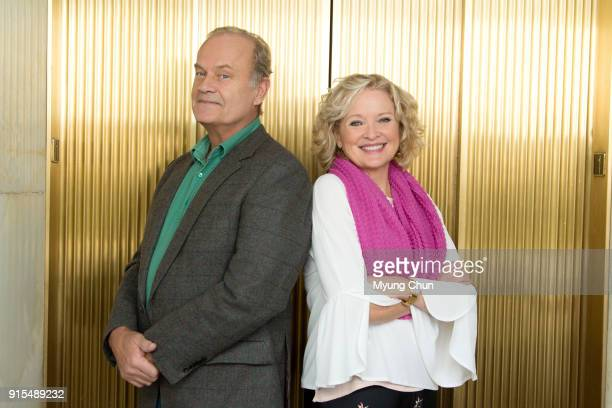 Actors Kelsey Grammer and Christine Ebersole are photographed for Los Angeles Times on January 10 2018 in Los Angeles California PUBLISHED IMAGE...