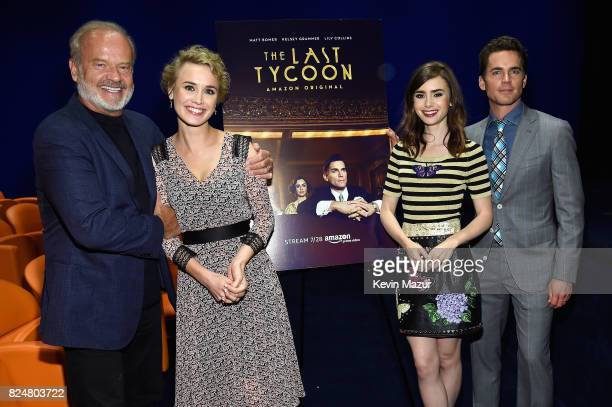Actors Kelsey Grammer Dominique McElligott Lilly Collins and Matt Bomer attend The Last Tycoon New York Special Screening VIP Reception at the Whitby...