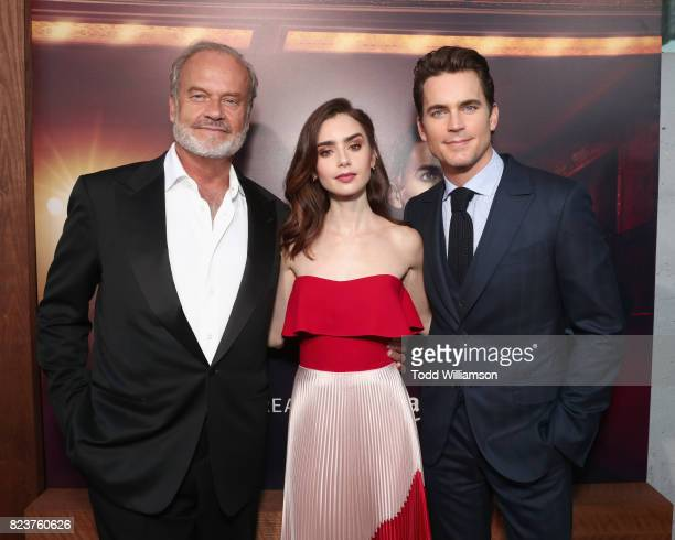 Actors Kelsey Grammer Lily Collins and Matt Bomer at the Amazon Prime Video premiere of the original drama series 'The Last Tycoon' at Harmony Gold...