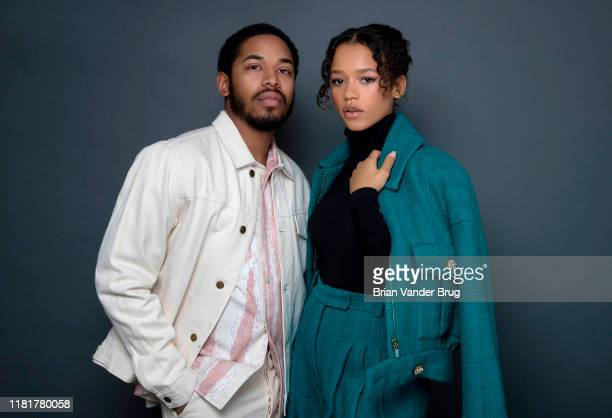 Actors Kelvin Harrison Jr and Taylor Russell are photographed for Los Angeles Times on August 1 2019 in El Segundo California PUBLISHED IMAGE CREDIT...
