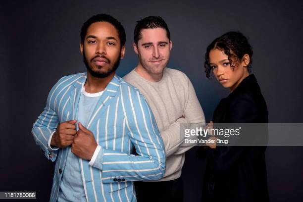 Actors Kelvin Harrison Jr Taylor Russell and director Trey Edward Shults from 'Waves' are photographed for Los Angeles Times on August 1 2019 in El...