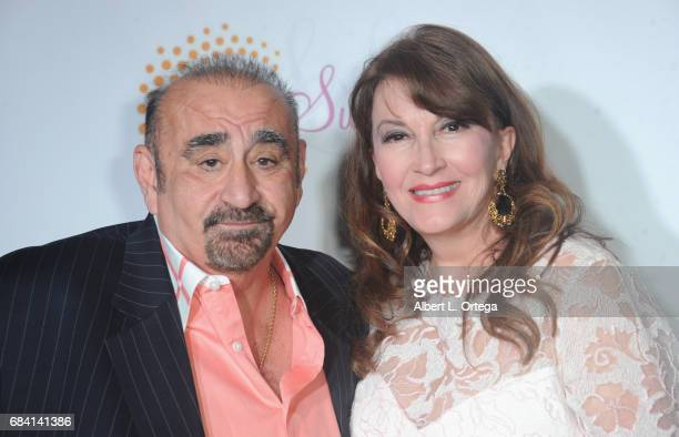 Actors Ken Davitian and Mary Apick at Sai Suman's Official Hollywood Runway Fashion Show held at Sofitel Hotel on April 11 2017 in Los Angeles...