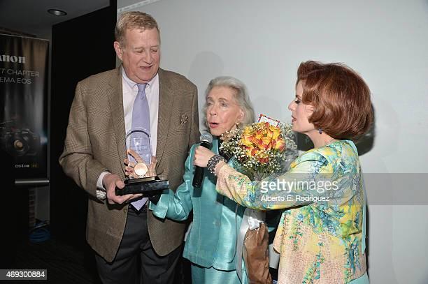Actors Ken Howard Marsha Hunt and Kat Kramer attend Kat Kramer's Films That Change The World on April 10 2015 in Hollywood California