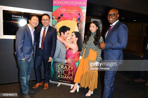 Actors Ken Jeong Nico Santos Awkwafina and TIFF Artistic Director CoHead Cameron Bailey introduce The Release Of Crazy Rich Asians on July 30 2018 at...