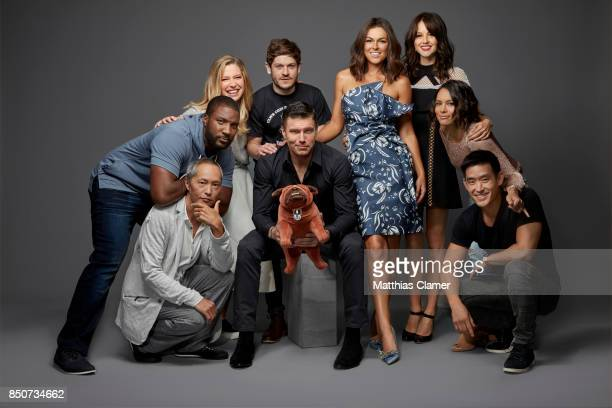 Actors Ken Leung, Eme Ikwuakor, Ellen Woglom, Iwan Rheon, Anson Mount, Serinda Swan, Isabelle Cornish, Sonya Balmores and Mike Moh from Marvel's...