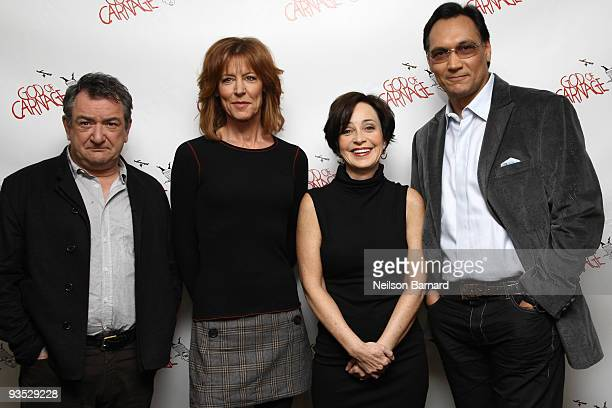 Actors Ken Stott Christine Lahti Annie Potts and Jimmy Smits attend the meet the cast of Braodway's 'God of Carnage' on December 1 2009 in New York...