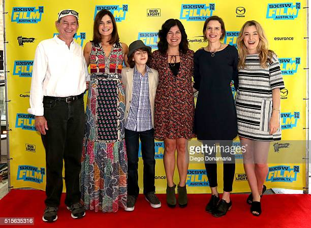 Actors Ken Strunk Betsy Brandt and Zev Haworth writer/director Annie J Howell writer/director Lisa Robinson and actress Anna Margaret Hollyman attend...