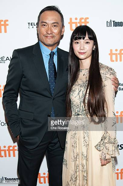 Actors Ken Watanabe and Aoi Miyazaki attend the premiere of Rage during the 2016 Toronto International Film Festival at The Elgin on September 10...
