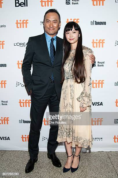 Actors Ken Watanabe and Aoi Miyazaki attend the premiere of 'Rage' during the 2016 Toronto International Film Festival at The Elgin on September 10...