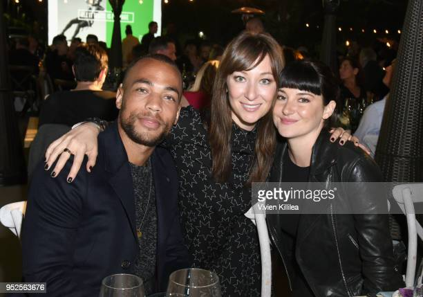 Actors Kendrick Sampson Isidora Goreshter and Shailene Woodley attend the All It Takes Lasting Legacy event at the headquarters of Earth Friendly...