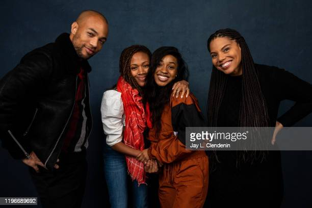 Actors Kendrick Sampson Nicole Beharie Alexis Chikaeze and director Channing Godfrey Peoples from 'Miss Juneteenth' are photographed in the LA Times...