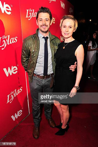 """Actors Kenny Doughty and Caroline Carver are seen at WE tv's Celebration for The Premiere Of It's Newest Series """"The LYLAS"""" at the Warwick on..."""