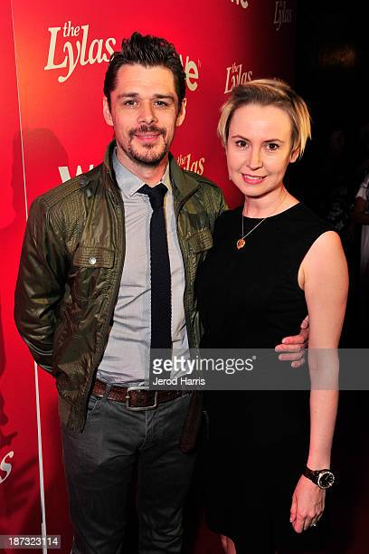 Actors Kenny Doughty and Caroline Carver are seen at WE tv's Celebration for The Premiere Of It's Newest Series The LYLAS at the Warwick on November...