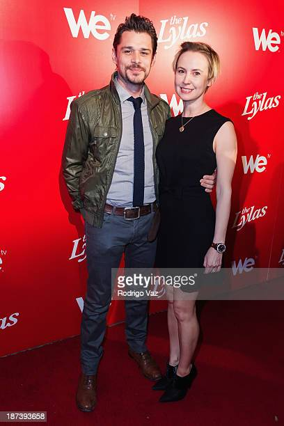 Actors Kenny Doughty and Caroline Carver arrive at WE tv's Premiere Party for The LYLAS at Warwick on November 7 2013 in Hollywood California