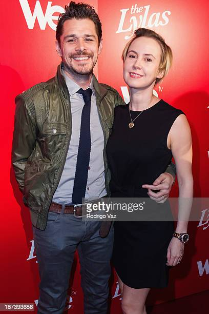 """Actors Kenny Doughty and Caroline Carver arrive at WE tv's Premiere Party for """"The LYLAS"""" at Warwick on November 7, 2013 in Hollywood, California."""