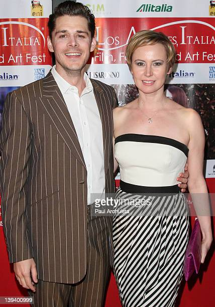 Actors Kenny Doughty and Caroline Carver attend the 7th annual Los Angeles Italia-Film, Fashion and Art Festival opening night at Mann Chinese 6 on...
