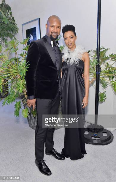 Actors Kenric Green and Sonequa MartinGreen attend the Costume Designers Guild Awards at The Beverly Hilton Hotel on February 20 2018 in Beverly...