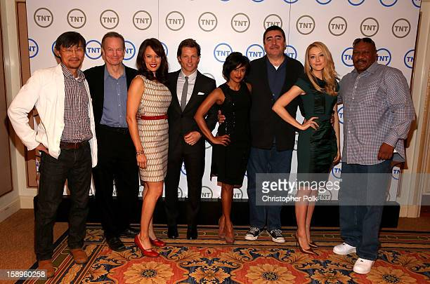 Actors Keong Sim Bill Irwin Emily Swallow Jamie Bamber Sarayu Blue Alfred Molina Jennifer Finnigan and Ving Rhames of Monday Mornings attend Turner...