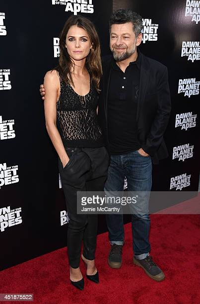 Actors Keri Russell and Andy Serkis attend the Dawn Of The Planets Of The Apes premiere at Williamsburg Cinemas on July 8 2014 in New York City