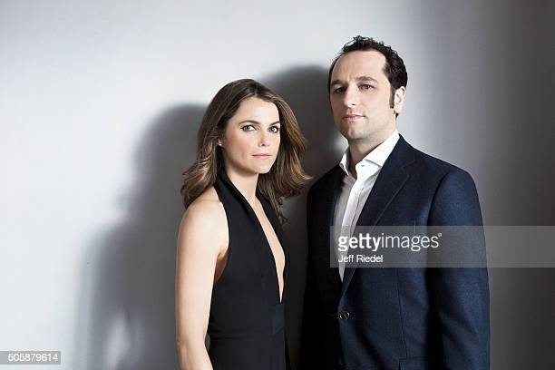 Actors Keri Russell and Matthew Rhys are photographed for TV Guide Magazine on January 17 2015 in Pasadena California