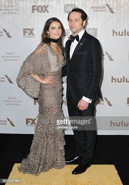 Actors Keri Russell and Matthew Rhys attend FOX and FX's 2017 Golden Globe Awards after party at The Beverly Hilton Hotel on January 8 2017 in...