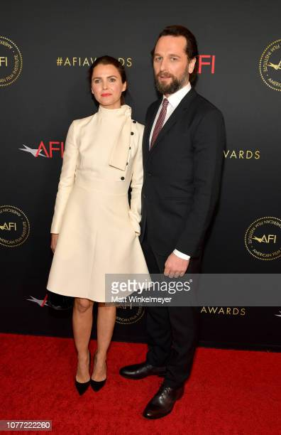 Actors Keri Russell and Matthew Rhys attend the 19th Annual AFI Awards at Four Seasons Hotel Los Angeles at Beverly Hills on January 4, 2019 in Los...