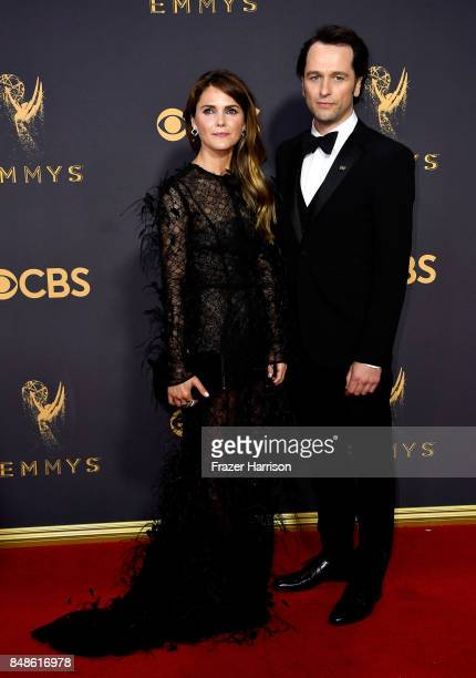 Actors Keri Russell and Matthew Rhys attend the 69th Annual Primetime Emmy Awards at Microsoft Theater on September 17 2017 in Los Angeles California
