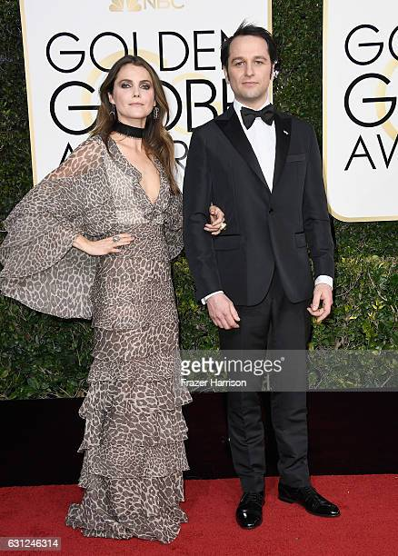 Actors Keri Russell and Matthew Rhys attend the 74th Annual Golden Globe Awards at The Beverly Hilton Hotel on January 8 2017 in Beverly Hills...