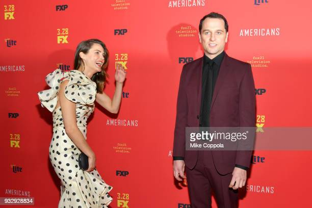 Actors Keri Russell and Matthew Rhys attend The Americans Season 6 Premiere at Alice Tully Hall Lincoln Center on March 16 2018 in New York City
