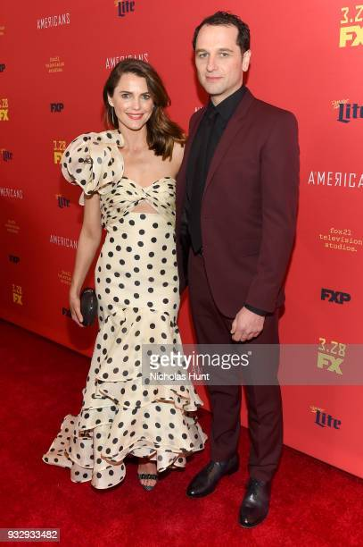Actors Keri Russell and Matthew Rhys attend 'The Americans' Season 6 Premiere at Alice Tully Hall Lincoln Center on March 16 2018 in New York City