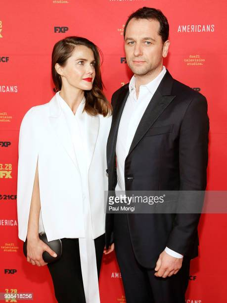 Actors Keri Russell and Matthew Rhys attend the Washington DC Premiere of FX Networks' The Americans at The Newseum on March 20 2018 in Washington DC