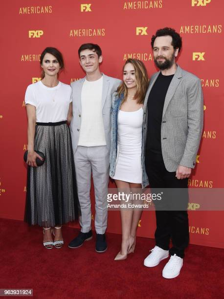Actors Keri Russell Keidrich Sellati Holly Taylor and Matthew Rhys arrive at the For Your Consideration Red Carpet Event for the series finale oF...