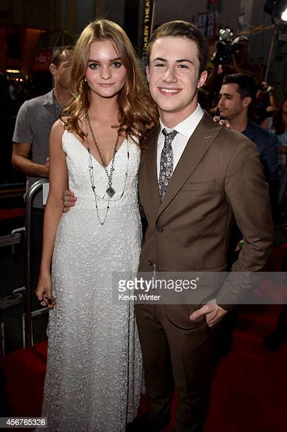 Actors Kerris Dorsey and Dylan Minnette attend the premiere of Disney's 'Alexander and the Terrible Horrible No Good Very Bad Day' at the El Capitan...