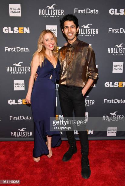Actors Kerry Butler and Cheech Manohar of Mean Girls attend the GLSEN 2018 Respect Awards at Cipriani 42nd Street on May 21 2018 in New York City