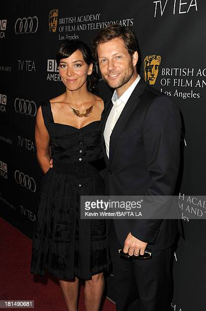 Actors Kerry Norton and Jamie Bamber attend the BAFTA LA TV Tea 2013 presented by BBC America and Audi held at the SLS Hotel on September 21, 2013 in...