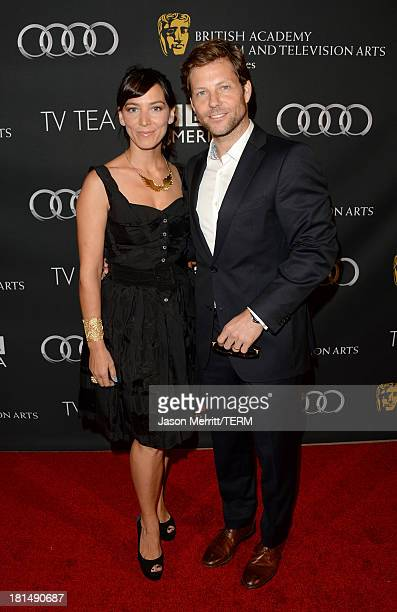 Actors Kerry Norton and Jamie Bamber attend the BAFTA LA TV Tea 2013 presented by BBC America and Audi held at the SLS Hotel on September 21 2013 in...